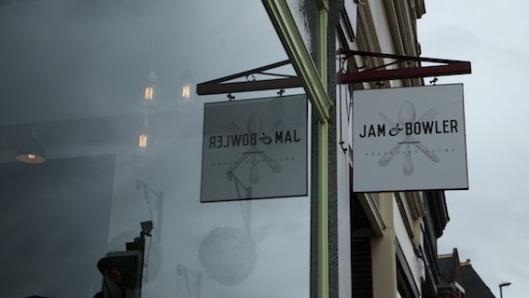 Jam & Bowler sign
