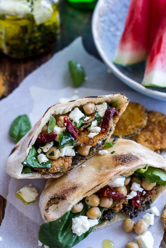 greek-olive-pesto-and-fried-zucchini-grilled-pitas-w-marinated-feta-garbanzo-beans-11